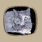 Grey Cat Pin