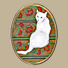White Cat/Wallpaper Pin